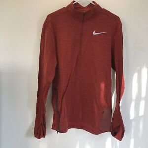 Nike Running Mens Dri Fit Long Sleeve 1 4 Zip Up Athletic Shirt Size M $29.99