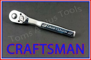 CRAFTSMAN TOOLS 1 4quot; FULL POLISH 72 Tooth Quick Release Ratchet Socket Wrench $19.99