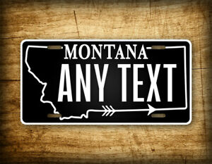 Custom Montana Silhouette License Plate MT Personalized Text Novelty Auto Tag