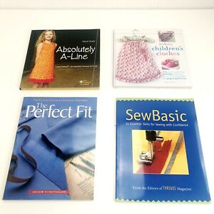 Lot Of 4 Soft cover Books Sewing Kids Clothing Altering Patterns Sewing Skills $15.00
