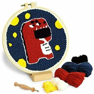 RRIBOUDWAN Punch Needle Embroidery Kits Beginner With An Sewing Pen Yarn DIY Rug $28.29