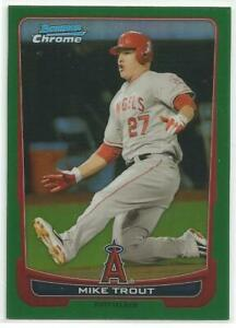 2012 Bowman Chrome Green Refractor Mike Trout # 157 $230.00