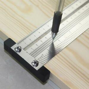 High precision T Square Hole Scale Ruler Stainless Woodworking Scriber Mark Line $20.78