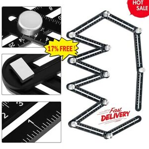 12Folding Ceramic Tile Hole Locator Adjustable Multi Angle Ruler Measuring Tools $15.78