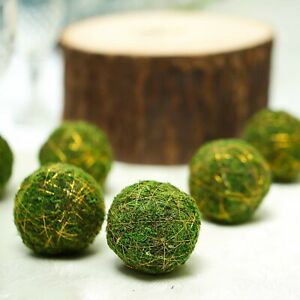 6 pcs 3 Inch Green Natural Moss Balls Orbs Wedding Party Centerpieces Fillers $10.32