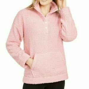 Jenni Faux Sherpa Cozy Pullover Pink $10.16