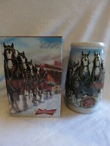 75th Anniversary Budweiser Clydesdales 2008  Stein CS695 Excellent Condition $10.00