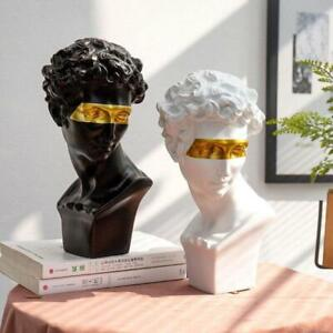 Home Decoration Modern Statues Resin Abstract Art Bust Sculpture Art Sketch $46.17