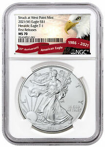 2021 W American Silver Eagle Struck West Point Mint NGC MS70 FR Eagle PRESALE $57.05