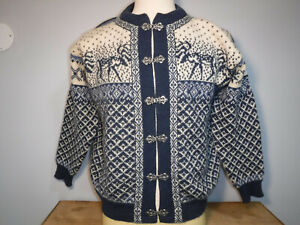 Norwegian Norstrikk Blue White Sweater Size Medium