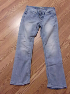 Men#x27;s Buckle BKE Aiden Straight Denim Jeans Size 28S 28X27 Button Fly used