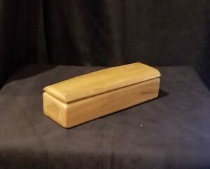 Vintage Small Avacado Wood Pencil Box