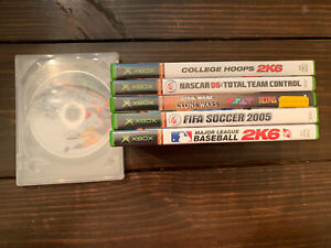 Xbox Original Six Game Lot. NCAA Basketball NCAA Football NASCAR Tertis