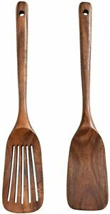 Wooden Spoons for Cooking 2Pcs Premium Wood Spoon and Spatula Set Nonstick $49.99