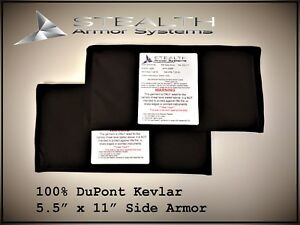 5.5quot; x 11quot; Plate Backers Inserts bullet proof armor level 3A Side Armor $89.95