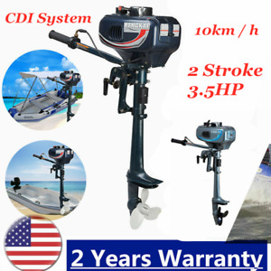 3.5HP 2 Stroke Outboard Motor Fishing Boat Engine Motor CDI System water Cooling
