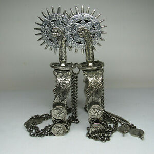 SPANISH COLONIAL MEXICAN CONQUISTADOR STYLE WEDDING PARADE SPURS 3 ROWELS