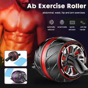 ABS Roller Abs Workout Carver Pro Wheel Abdominal Home Gym Exercise Equipment $23.74