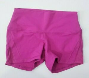 LULULEMON Wunder Under Shorts High Rise Size 8 Pink Luon EUC $24.99