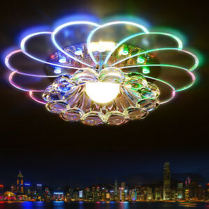 Modern Acrylic Crystal Colorful Crystal LED Light Ceiling Lamp Home Decorate $33.24