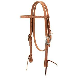 Weaver Leather 10 0090 Pony Harness Leather Headstall with Floral Designer Ha... $49.97