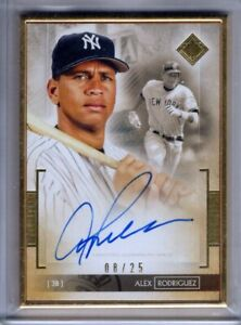 2020 Transcendent Collection Auto ALEX RODRIGUEZ Gold Framed AUTOGRAPH 25 Topps $181.99