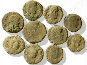 IVLLA 10 Ancient Roman Coins Uncleaned and As Found 01805 $26.95