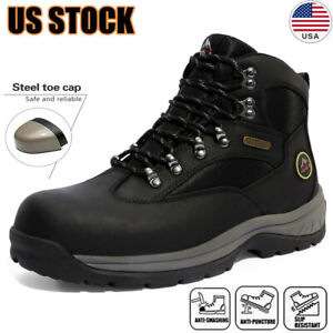 Mens Safety Shoes Steel Toe Work Boots Indestructible Waterproof Boots Shoes US $47.49