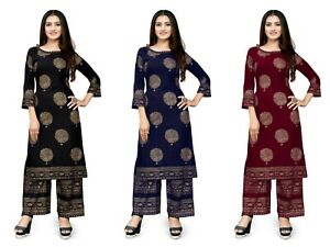 Pakistani Suit Shalwar Kameez Plazo Kurti Designer Dresses Indian Stitched Kurti