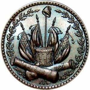 Civil War Token 230 352A Our Country Crossed Cannons UNC R1 $65.00