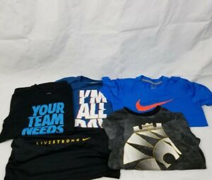 Lot Of 5 Nike Dri Fit Lebron Shirt Nike Shirts Short Sleeve Active Boys Small $21.24