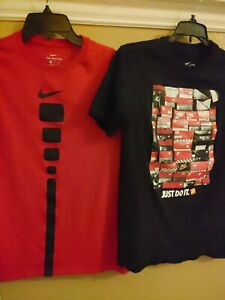 Nike Dry Fit Shirt Youth XL amp; The Nike Shirt Red Black Short Sleeve Outstanding $24.00