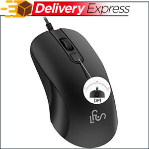 Silent Wired Computer Mouse with DPI Change Button for Laptop PC Gamming Office