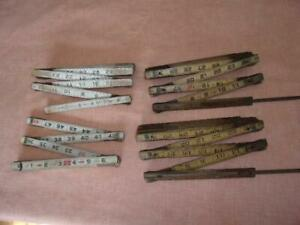 THREE and 1 2 Vintage FOLDING RULERS Ridgid amp; Durall amp; Lufkin $11.00