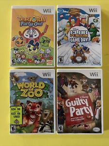 World of Zoo Tamagotchi Club Penguin Disney Guilty Party Wii Lot CIB Tested $23.95