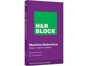 HR BLOCK Tax Software Deluxe State 2020 Physical Box Shipped ✔✔✔✔✔ $27.02