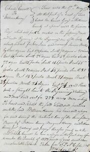 Charles Carroll LEASING A TRACT OF LAND IN BALTIMORE COUNTY TO WILLIAM Signed $150.00