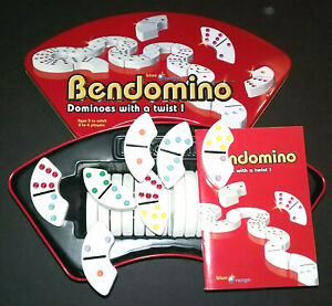 Bendomino Dominoes With a Twist Blue Orange Games 2006 Heavy Curved L🌈🌈K $8.99