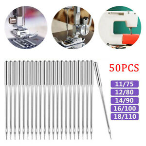 50PCS Home Sewing Machine Needle 11 7512 8014 9016 100 for Brother Singer Kit $9.04