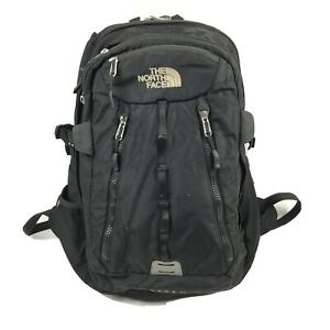 The North Face Surge II Black Day Pack Hiking Camping Backpack