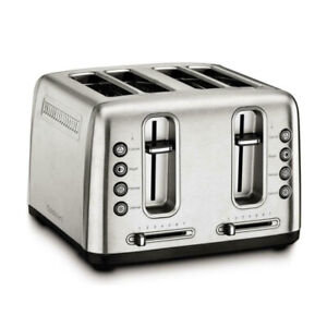Cuisinart RBT 4900PC Stainless Steel 4 Slice Toaster with Shade Control Brush $49.95