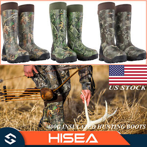 HISEA Apollo Pro 400G Hunting Boots Insulated Waterproof Rubber Muck Mud Boots