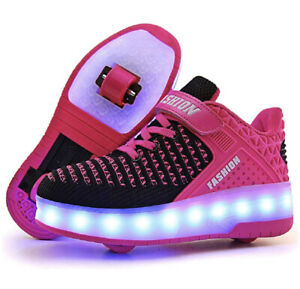 Ufatansy USB Charging Roller Skate Shoes Girls LED Fashion Sneakers New $25.00