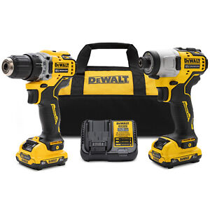 Dewalt Xtreme 12V MAX Brushless Cordless Compact Drill and Impact Driver Kit $165.16