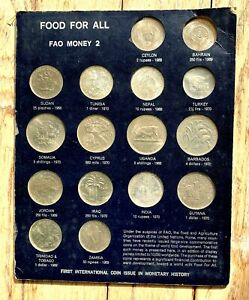 FOOD FOR ALL FAO MONEY 2 16 COINS SET 3 SILVER $110.00