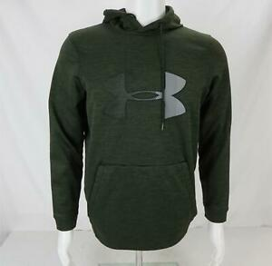 Under Armour Cold Gear Hoodie Sweatshirt Green Gray Mens Small $19.79