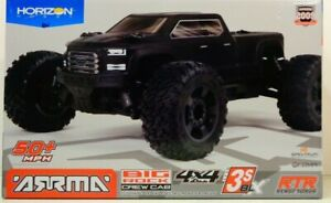 ARRMA 1 10 BIG ROCK 4X4 V3 3S BLX Brushless Monster Truck RTR Black ARA4312V3