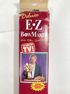 Deluxe EZ Bow Maker With Ribbon Spool Holder E•Z Craft Bow Maker In Box $23.98