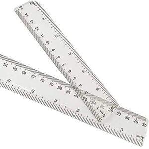2 Pack Plastic Ruler Straight Clear See Through Measuring Acrylic Tool Student $13.88