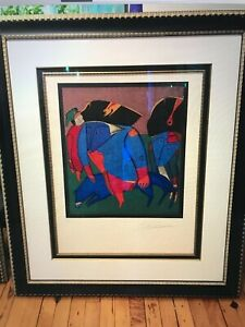 Mihail Chemiakin Limited Edition Lithograph Hand Signed #x27;1990th Framed $1800.00